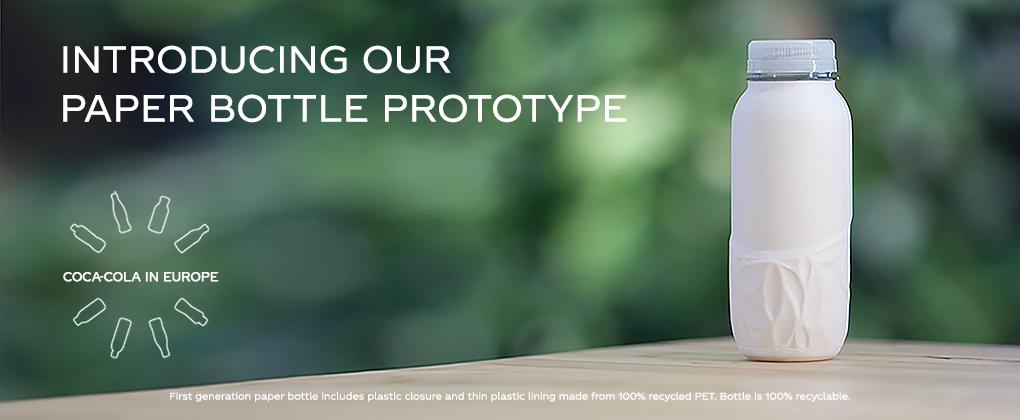 Présentation de notre premier prototype de bouteille en papier | Coca-Cola  en France
